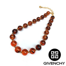 Givenchy Brown Ball Necklace