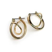 Gold Whirl Earring