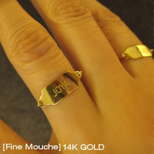 [Fine Mouche] Fragile Name Tag Ring