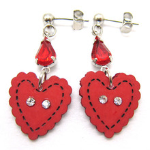 Heart Button Earring