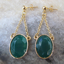 Green Hanging Earring
