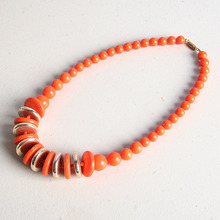 [HeCollection] Vivid Orange Ball Necklace
