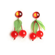 Vintage Cherry Earring
