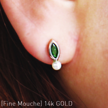 [FineMouche]14k Emerald Earring