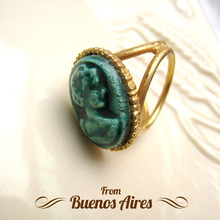 Cameo Scarf Ring